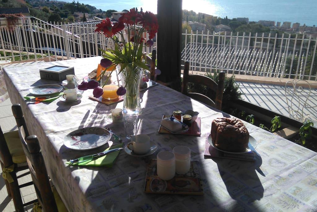 Breakfast on my terrace