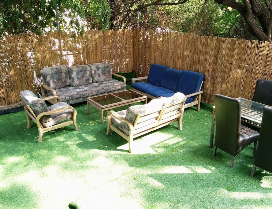 Lovely private yard. Perfectly shaded and chilled during the summer.
