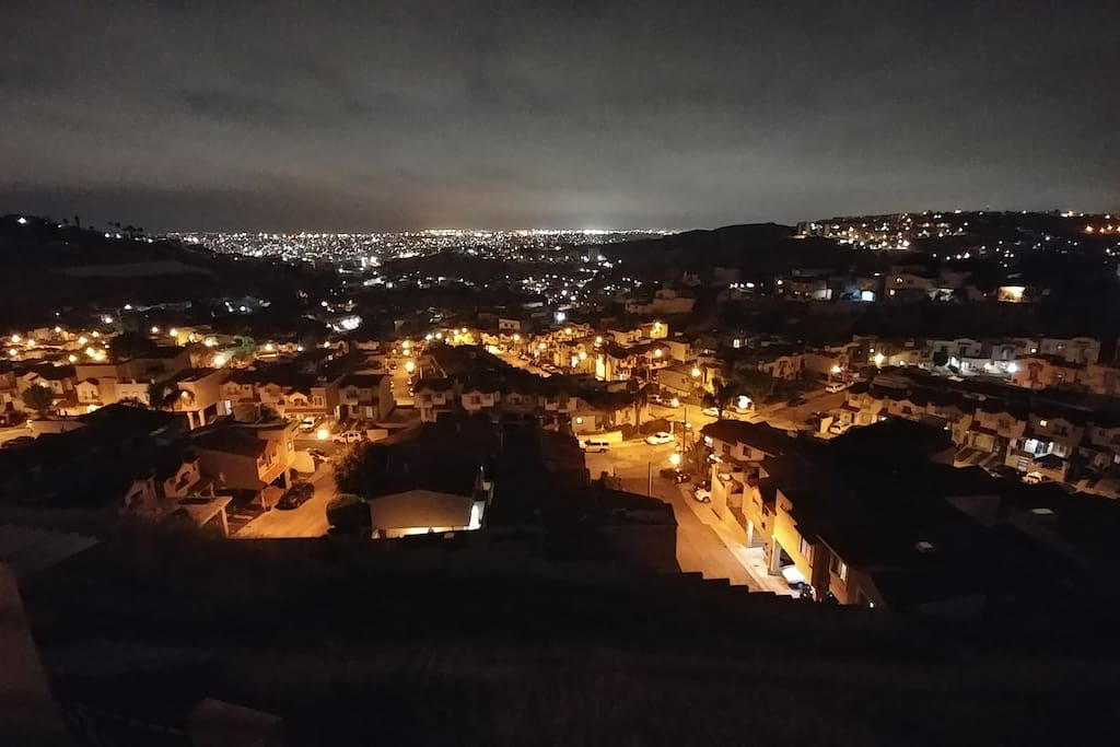 Spectacular view of Tijuana/San Diego from the back of the house