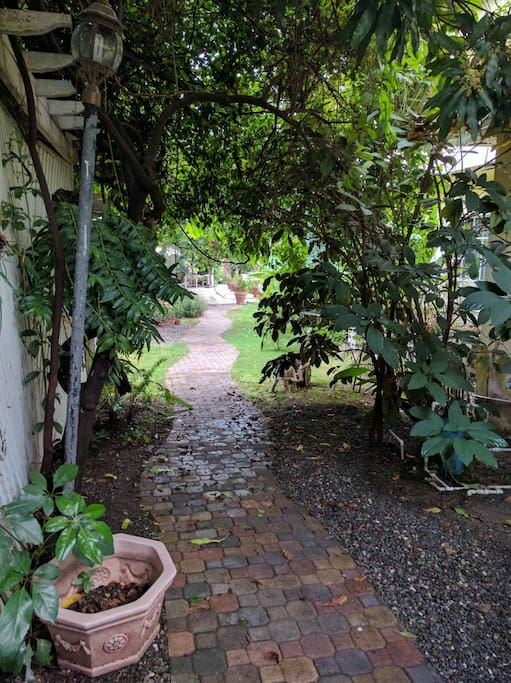 walk way to your cottage