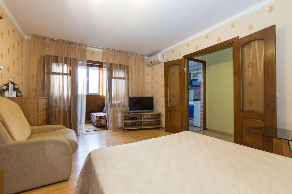 Просторная уютная и тихая комната
