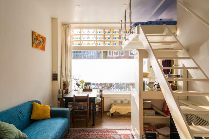 Authentic groundfloor studio loft apartment east
