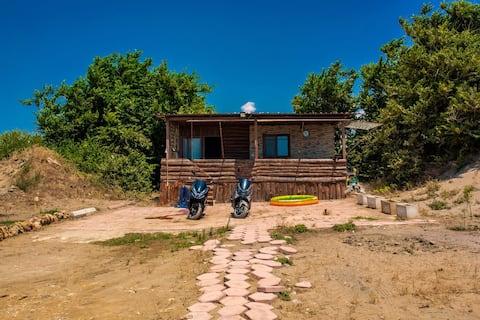 Una casa única en la playa de Anamur con vistas infinitas