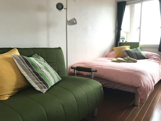 新宿御苑前駅から徒歩3分/無料ポケットWi-Fi/6名までOK/観光地へのアクセス良好 - Shinjuku-ku - Διαμέρισμα