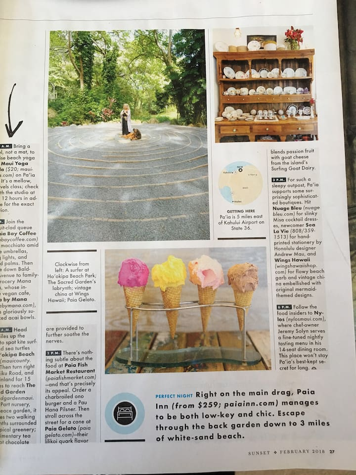 The Sacred Garden Labyrinth in Sunset Mag!