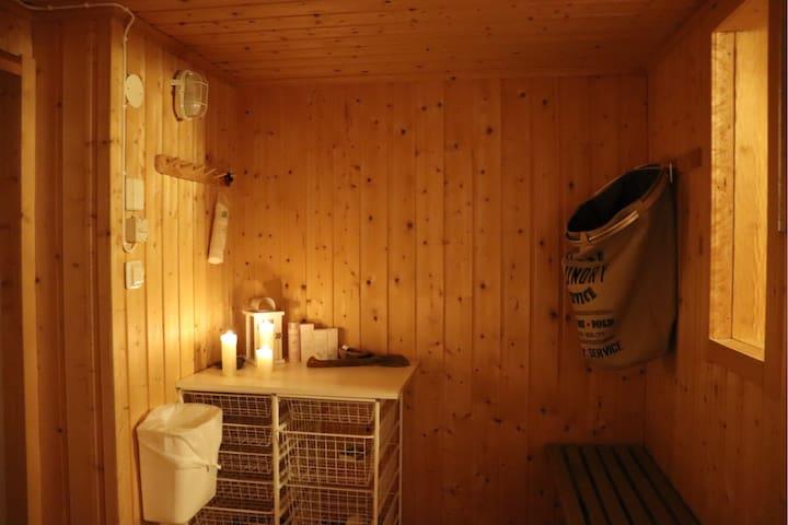 Sauna front room