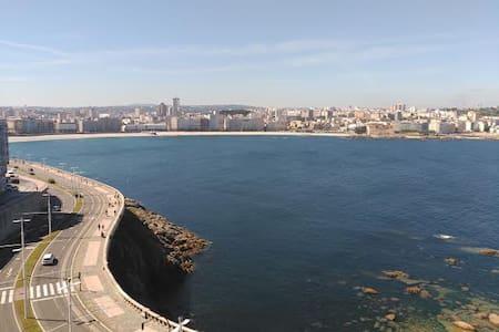 Central apartment with spectacular ocean views! - A Coruña - Apartmen