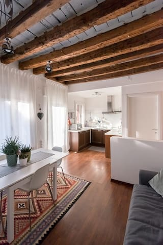 Central apartment with amazing roof garden - Treviso - Byt