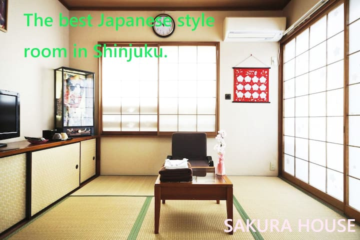 ☆Shinjuku rank No.1☆SAKURA room.50☆3 min station☆