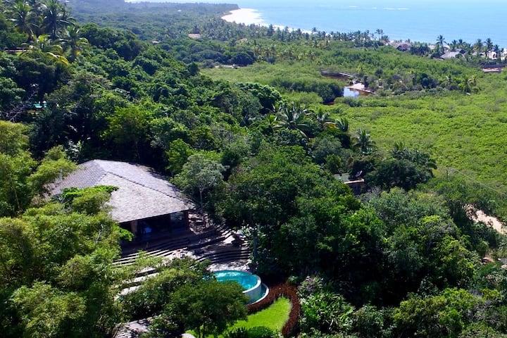 Casa Aracê Vista Mar, 50m do Quadrado 8a10 pessoas