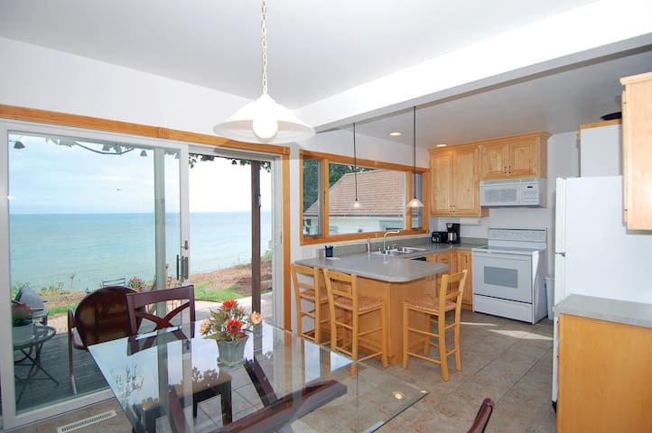 Lake Shore House-directly on Lake Michigan!