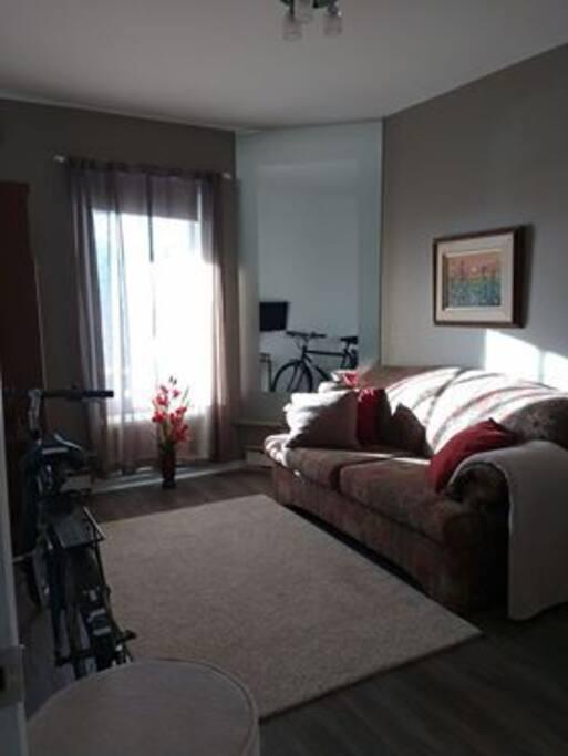 Chambre ensoleillée le matin et vélo disponible pour loisirs, si besoin.