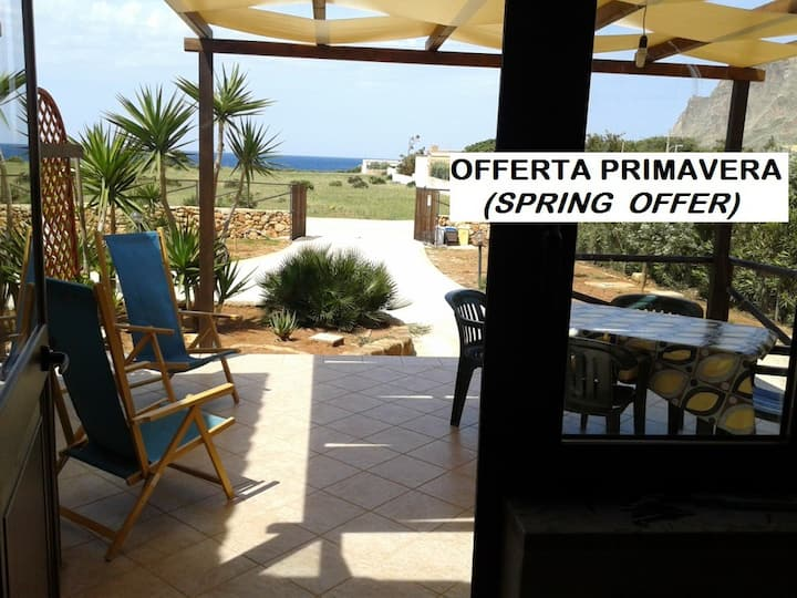 SPRING OFFER, chalet with garden and sea view!!