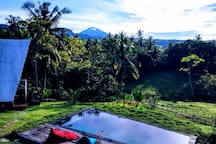 Witness Bali's dynamic volcano-scape from your lounge.  (Batukaru, Bali's 2nd tallest volcano)