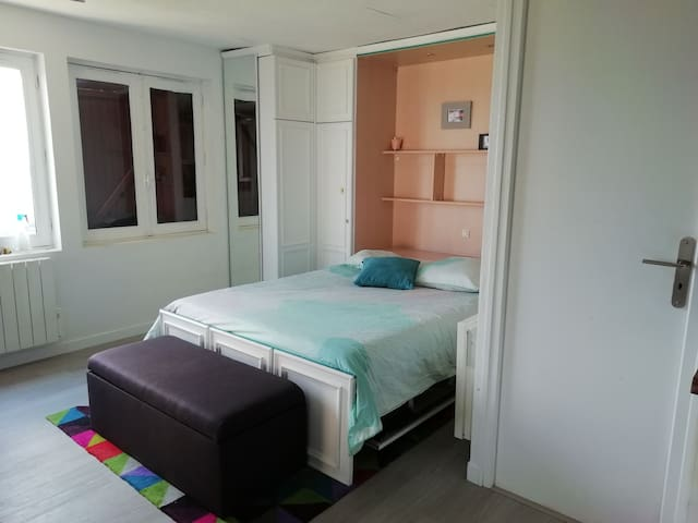 Salon avec lit escamotable
