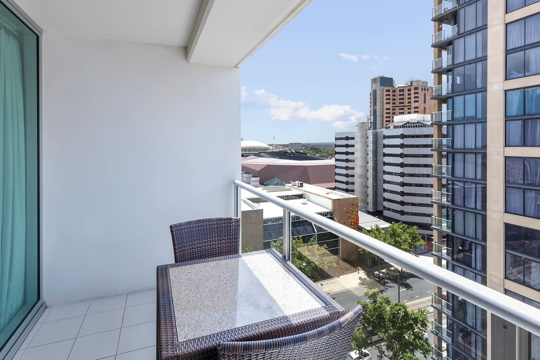 1 Bedroom: Private Balcony