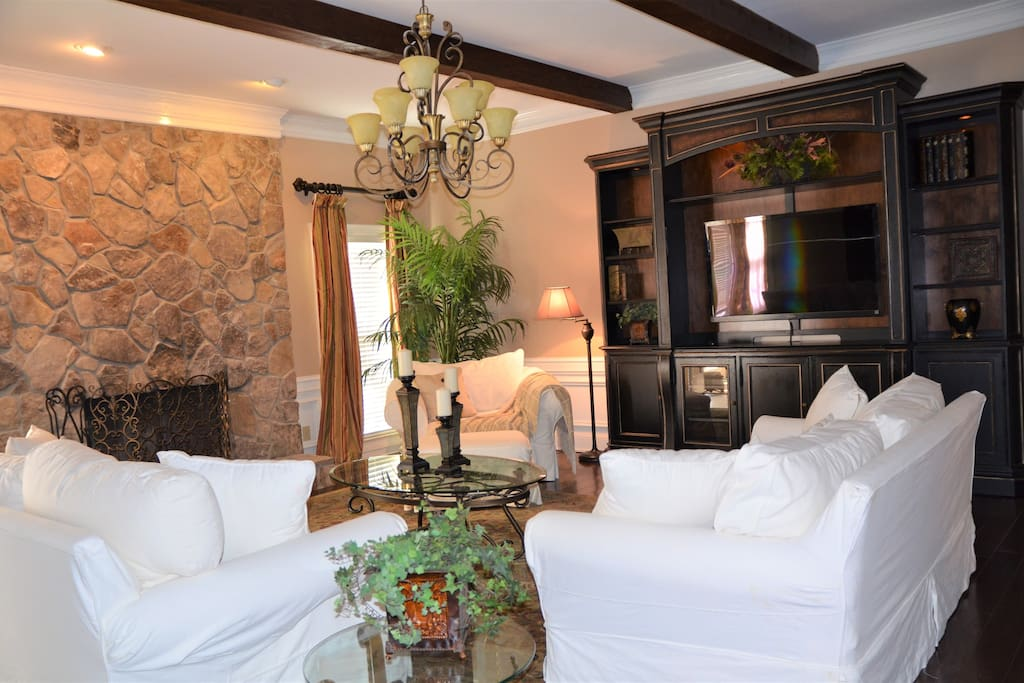 Beautiful living area designed for comfort and entertaining!