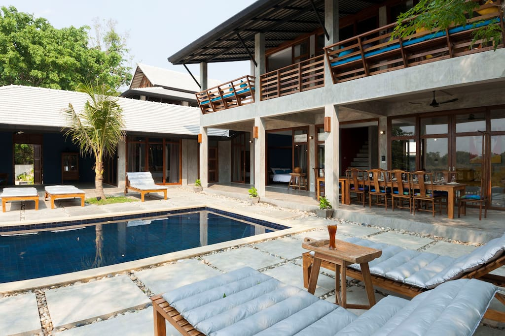 Ping pool villa 1 villas for rent in chiang mai chang wat chiang mai thailand for Chiang mai house for rent swimming pool
