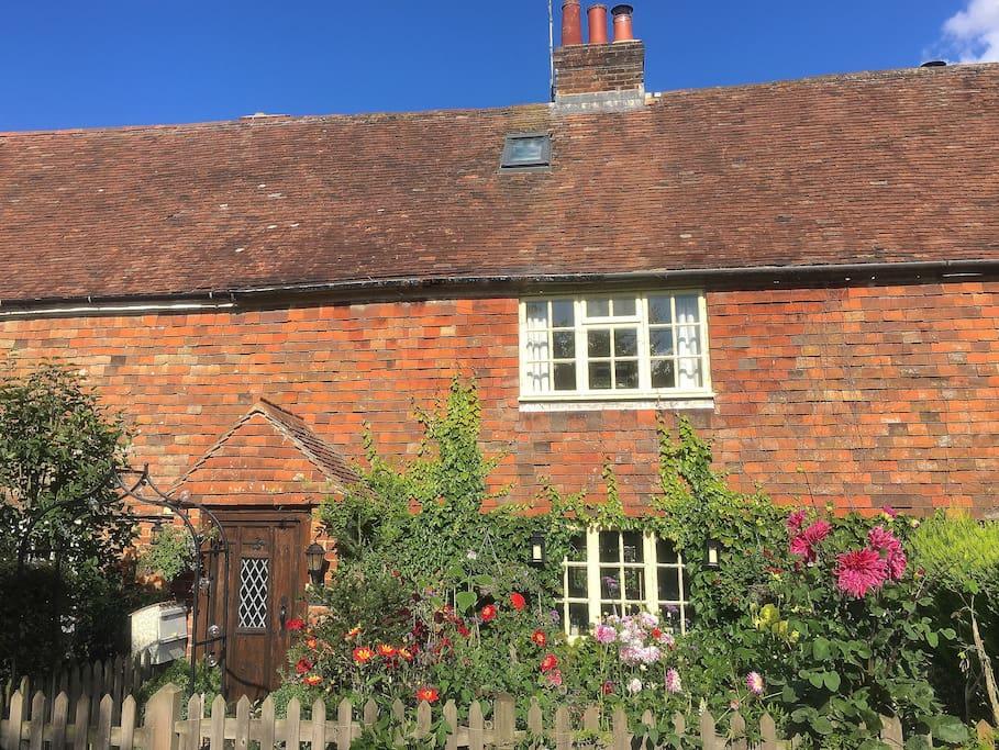 The 300-year old original oak timber-framed and Kent peg tile hung farm-worker's cottage