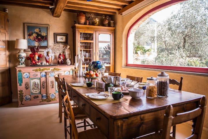 Camera Etnica tra olivi e mare vicino a Lucca