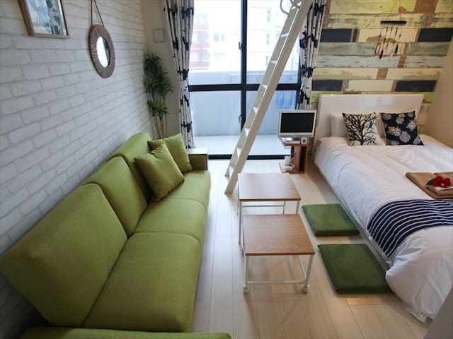 NEW! Naha Central, Near Kokusai St/Wifi/MAX5