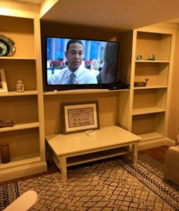 Living room with  48 inch HD TV