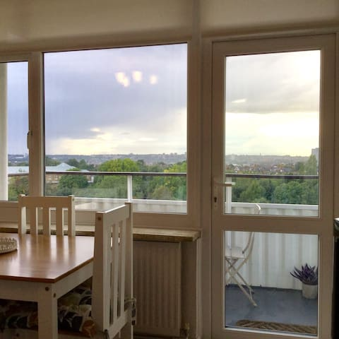 Airy 1 bd flat with views near Wandsworth Common