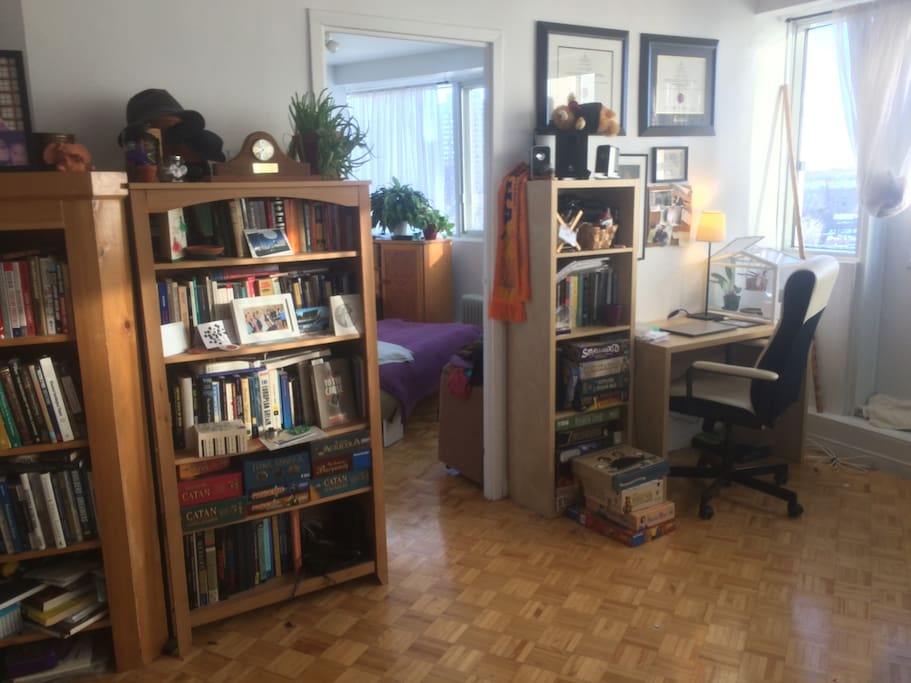 a cozy workspace