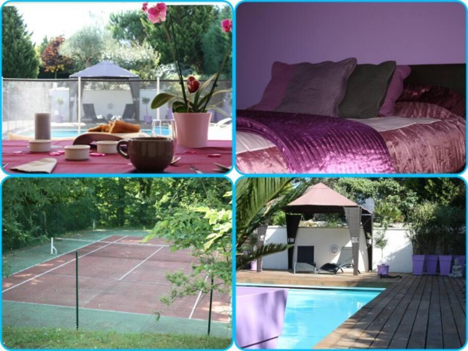 villa de standing 300m tennis spa maisons louer. Black Bedroom Furniture Sets. Home Design Ideas