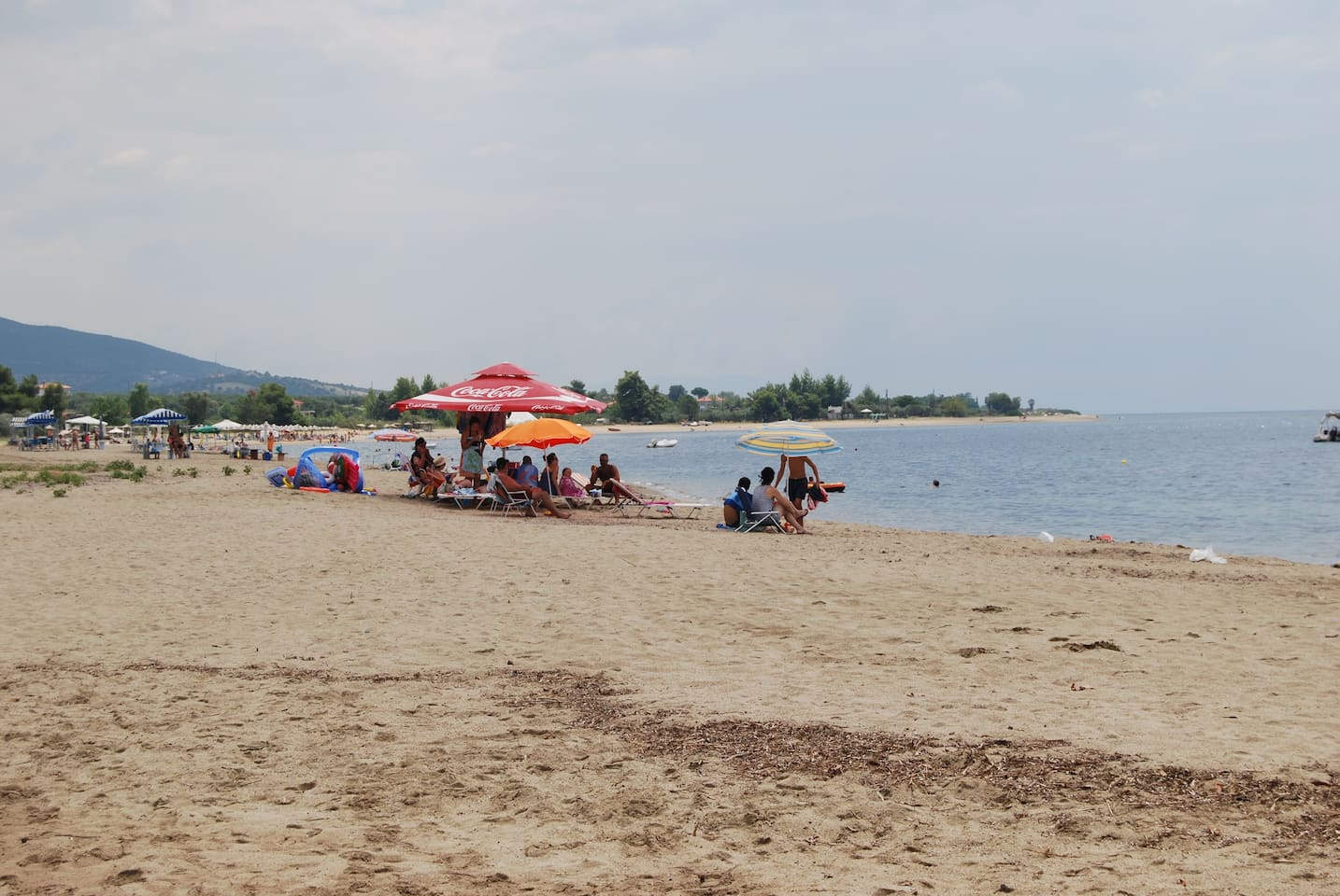 The beach in front of the residence complex
