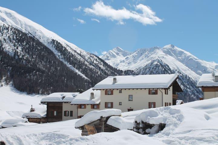 Apartment in Baita, nur wenige Schritte von den Skiliften entfernt