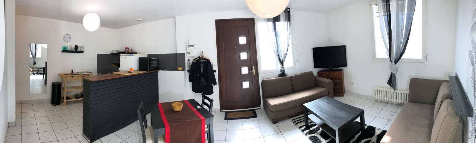 Charmant Appartement T2bis à 300m du Pont-Habité