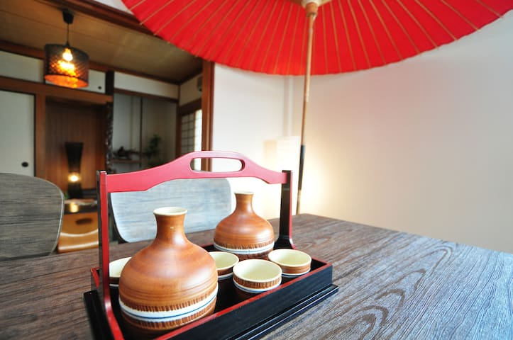 15min to Namba/Dotombori/Ryokan style-free wifi- - Hirano-ku, Ōsaka-shi - Hus