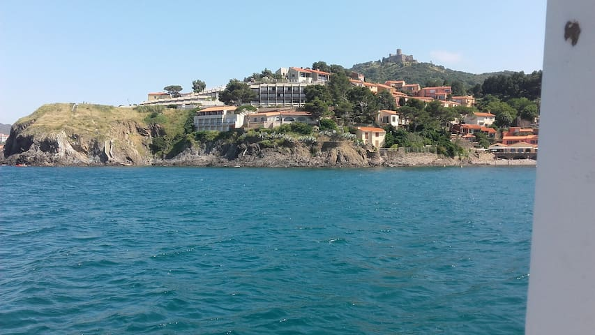 Studio cabine à Collioure vue sur mer!!!