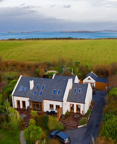 Bertra Lodge and Croagh Patrick Apartment on Bertra Strand under Croagh Patrick.