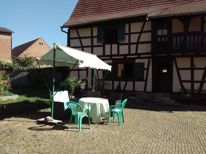 2 private rooms in friendly Alsace house