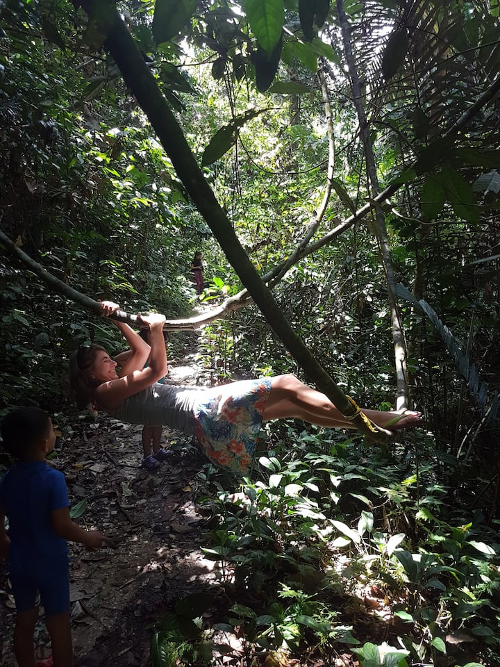 Try Tarzan swing;)
