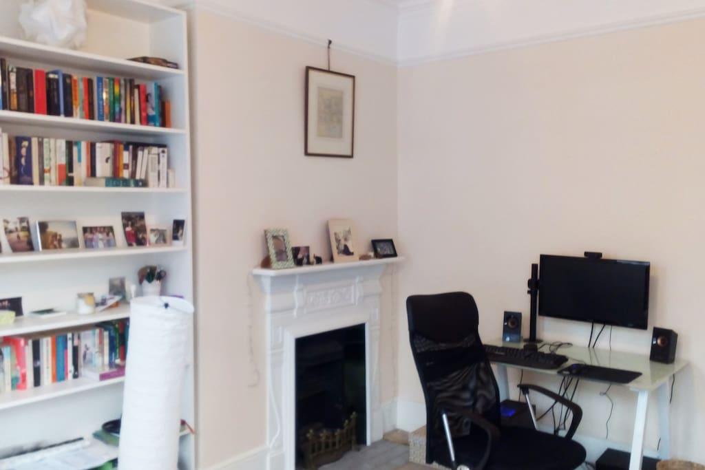 Desk & Fire Place