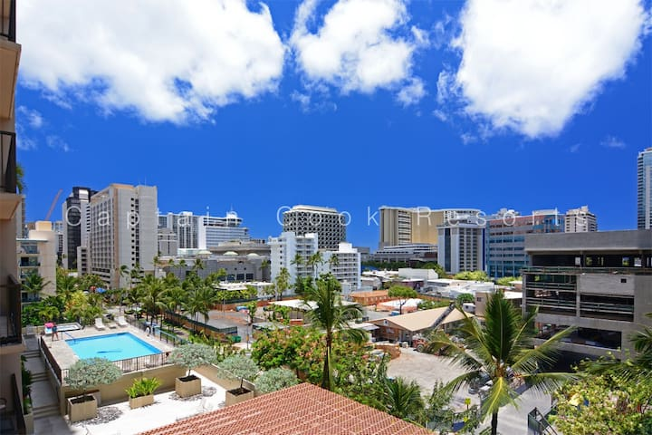 1 Bed with Pool | Balcony | A/C | W&D | Pkg FP#708 - Hawaii - Appartement en résidence