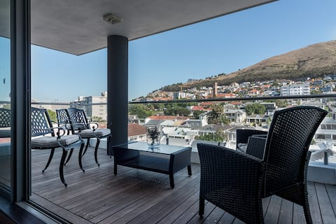 Balcony with views of Signal Hill