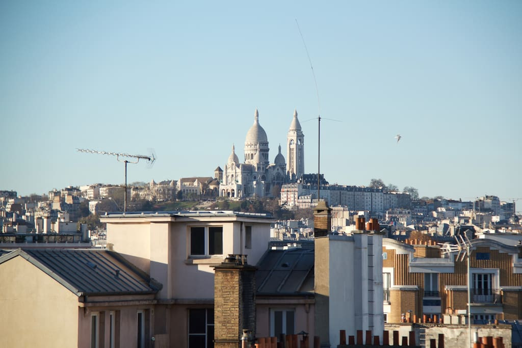 Sacré Coeur, the view from the balcony