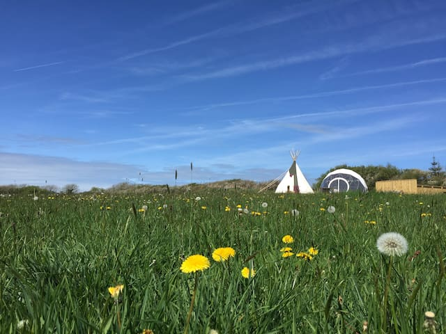 Traditional Tipi on the Pembrokeshire Coast