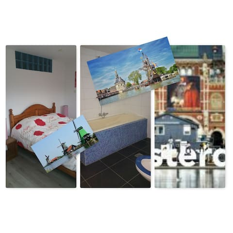 4 Rooms near Amsterdam. - Hoorn - Rumah
