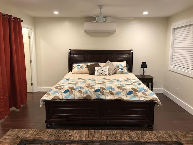 AC Unit above bed
