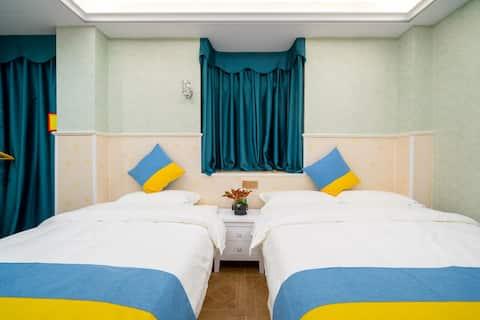 顺安公寓长隆旅游度假区中式双床房