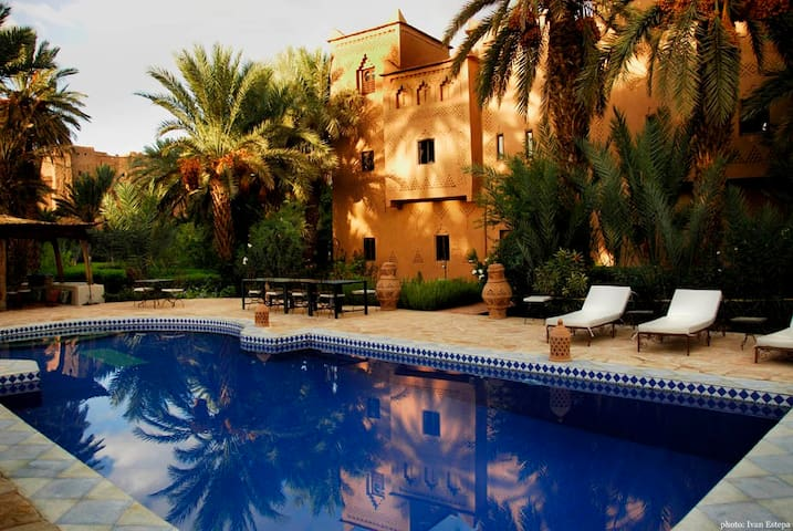 Kasbah Azul Eco Lodge dans la palmeraie du Drâa