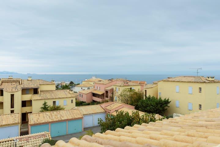 40m2 Terrasse Vue mer à 180°, à 100m de la plage - Sausset-les-Pins