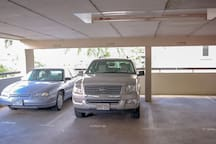 Free parking.