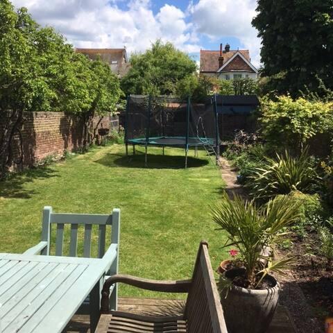 Large sunny garden
