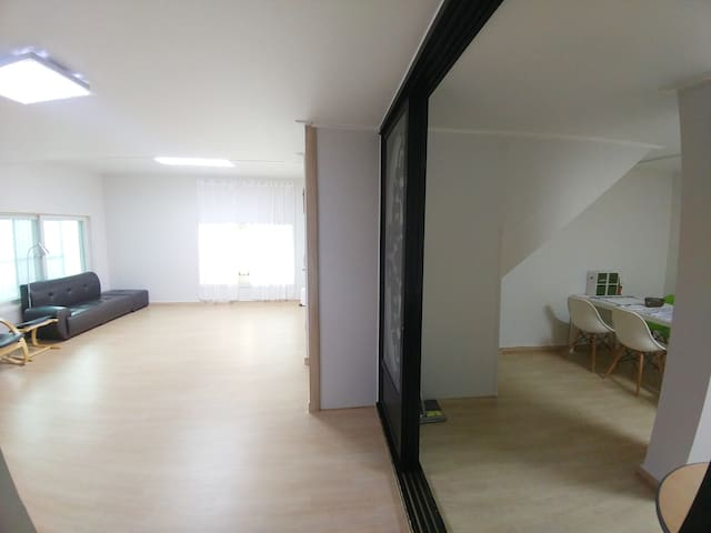 Between living and Dining Room